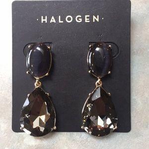 Halogen drop earrings